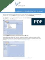 PDS Instructions