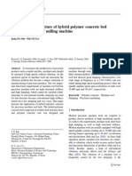 Design and Manufacture of Hybrid Polymer Concrete Bed