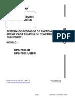 Cdd155080-Manual de Servicio, Lista de Partes LP-UPS7507-200602
