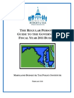 Regular Persons Guide to the 2011 Maryland Budget