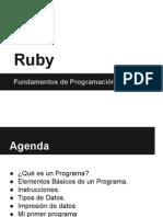 Elementos Básicos de Programación y Ruby