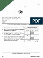 Percubaan UPSR 2015 - Pahang - BM Penulisan