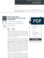 Online Education Technologically Advancing Classrooms