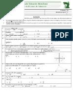 Exame  de Admissão UEM Matematica  2009