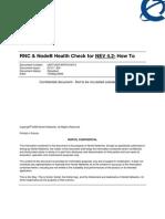 RNC and NodeB Health Check