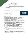 Elementary Algebra Problem Set