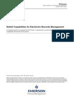 DeltaV Capabilities for Electronic Records