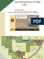 The Next Dimension of Villa Life - Sobha International City