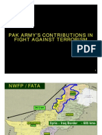 Pak Army Contribution in Fight Against Terrorism