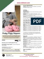 piggy slippers knitting