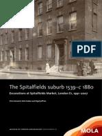 The Spitalfields suburb 1539–c 1880