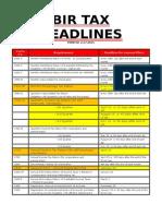 Bir Tax Deadlines 2015