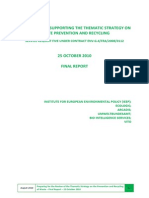 Euc Final Report – Supporting the Thematic Strategy on Waste Prevention and Recycling