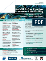 Annual Pipelines Oil and Gas Maintenance