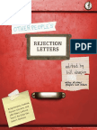 Other People's Rejection Letters edited by Bill Shapiro - Excerpt
