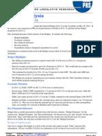 State Budget - Delhi 2012-13