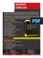 Practical Business Analytics Using SAS a Hands-On Guide