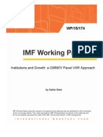 IMF Institutions and Growth - A GMM IV Panel VAR Approach