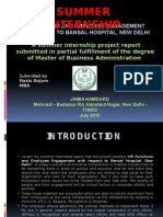HR Functions and Employee Engagement with respect to Bansal Hospital