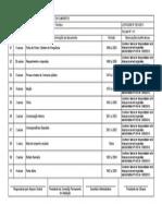 listagem de eliminação