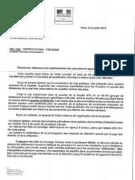 Réponse Procureur Paris - Roses d'Acier(1)