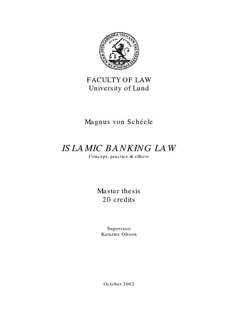 Dissertation banking law