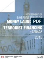 Assessment of Inherent Risks of Money Laundering and Terrorist Financing in Canada
