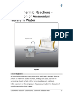 Ammoniumnitrate Reactions