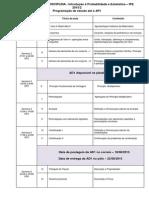 Cronograma IPE 2015 2