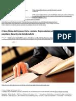 O Novo Código de Processo Civil e o sistema de precedentes judiciais