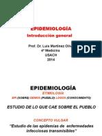 CLASE Nº 1 INTRODUCCION GENERAL A EPIDEMIOLOGÍA (USACH 2014)