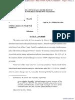 Buckman v. United American Insurance Company - Document No. 8