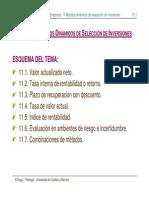 Tema 11 Métodos Dinámicos de Selección de Inversiones