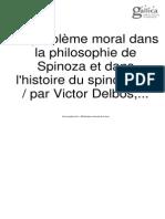 DELBOS, Victor_O Problema Moral Da Filosofia de Spinoza