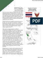 Thailand - Wikipedia, The Free Encyclopedia