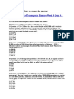 FIN 516 Advanced Managerial Finance Week 4 Quiz A+ Answer