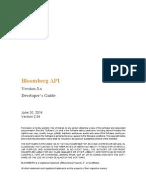 Blpapi Developers Guide 2 54 | Application Programming