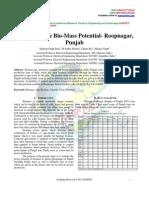 Estimating the Bio-Mass Potential- Roopnagar, Punjab