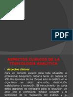 Aspectos Clínicos de La Toxicología Analítica