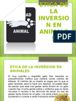 Etica de La Inversion en Animales (1)