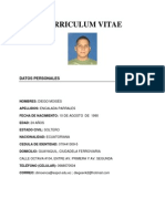 Curriculum Diego Encalada