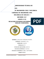 Compresion Simple No Confinada Mecanica Suelos Informe