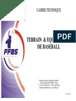 Cahier Technique Terrains Baseball 2008