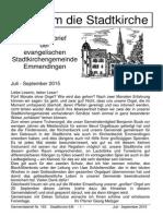 Gemeindebrief der Evangelischen Stadtkirchengemeinde Emmendingen-15-193