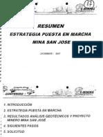 Análisis Geotécnico Proyecto Mina San José Diciembre 2007