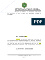 PETIÇÃO INICIAL - ALIMENTOS (AVOENGA)