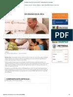 08-03-2015 Continúan Cursos de Verano en El IRCA