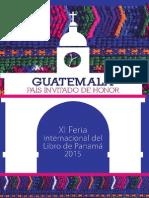 Guatemala, país invitado en la XI Feria Internacional del Libro de Panamá