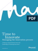Time to Innovate Managing the Innovation Process