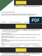 The Digital Data Quality Playbook - Ten Steps to Data Quality Nirvana